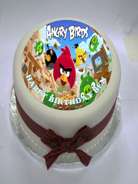 Angry Birds (Option 1)  Edible Cake Topper